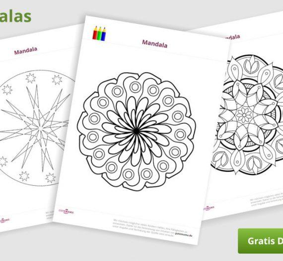 Mandalas für Kinder zum Ausdrücken