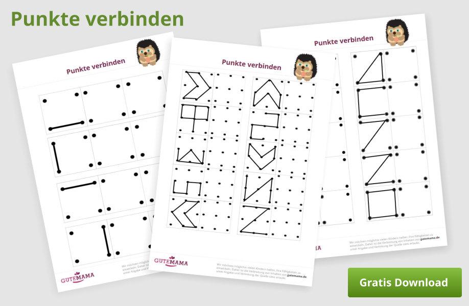 Punkte verbinden - Konzentrationsaufgabe für Kinder