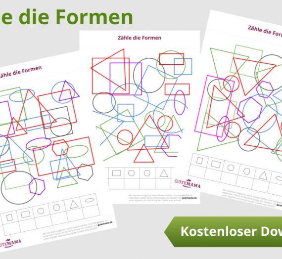 Formkonstanz – Vorläuferfähigkeit zum Zahlen und Buchstaben lernen