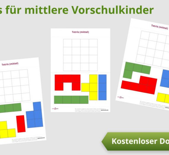 Tetris – kostenlose  Förderung der räumlichen Wahrnehmung für 4-5 Jährige