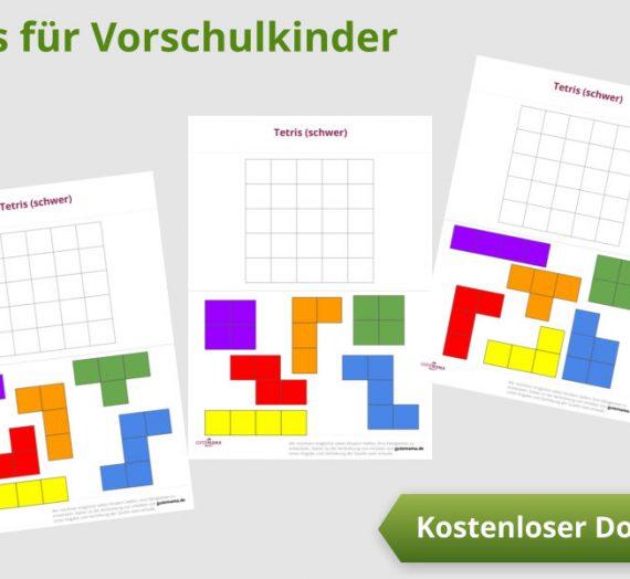 Tetris für Vorschulkinder – kostenlose  Förderung der räumlichen Wahrnehmung für 5-6 Jährige