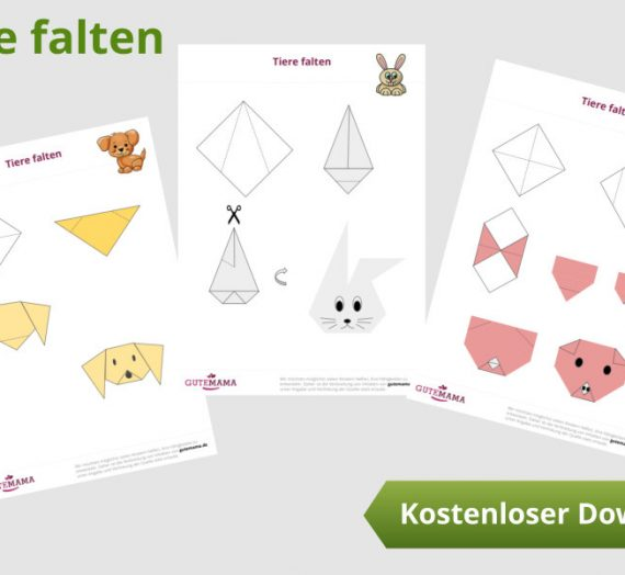 Tiere aus Notizzettel falten – eine Anleitung