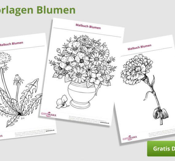 Malbuch Blumen – kostenlose Vorlagen pdf