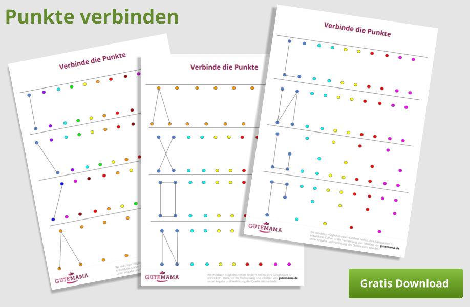 Punkte verbinden - Graphomotorik und Orientierung im Raum