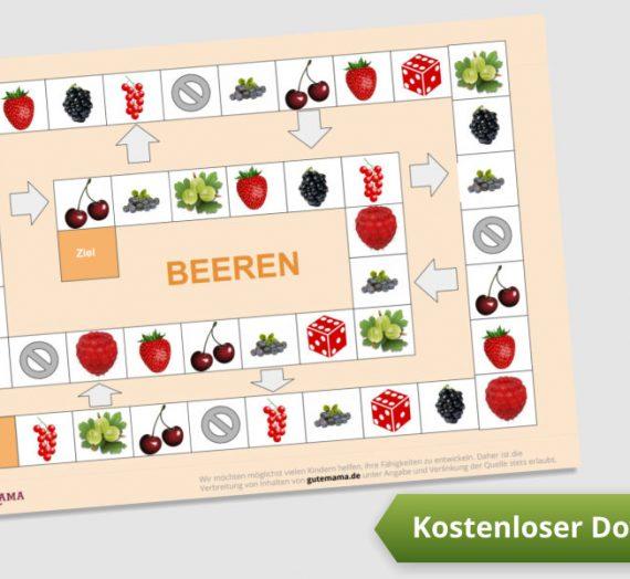 Spielplan zum Ausdrücken – Beerensorten lernen – DAZ