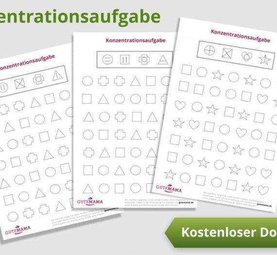 Konzentrationsaufgaben – kostenlose PDF