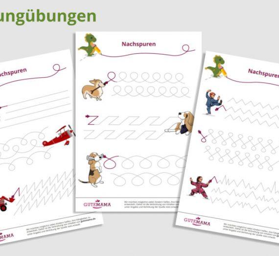 Nachspurheft – Schwungübungen – kostenlose pdf