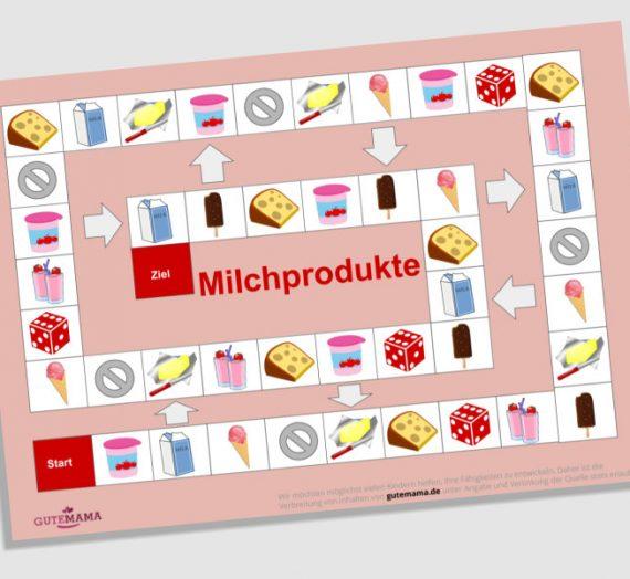Spielplan Milchprodukte – DAZ – Wortschatz