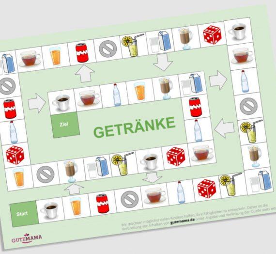 Spielplan Getränke – DAZ – Wortschatz
