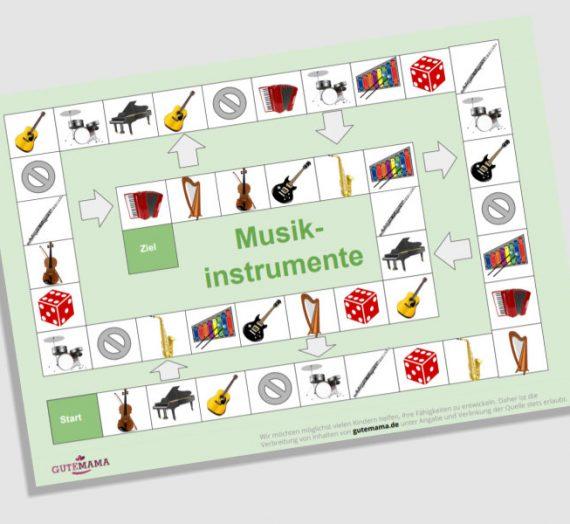 Spielplan Musikinstrumente – DAZ – Wortschatz