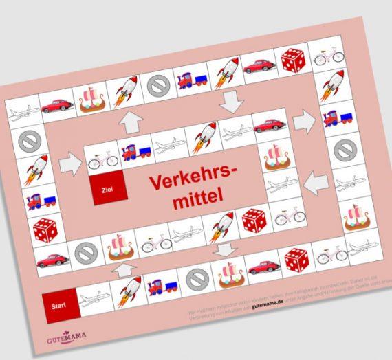 Spielplan Verkehrsmittel – DAZ – Wortschatz