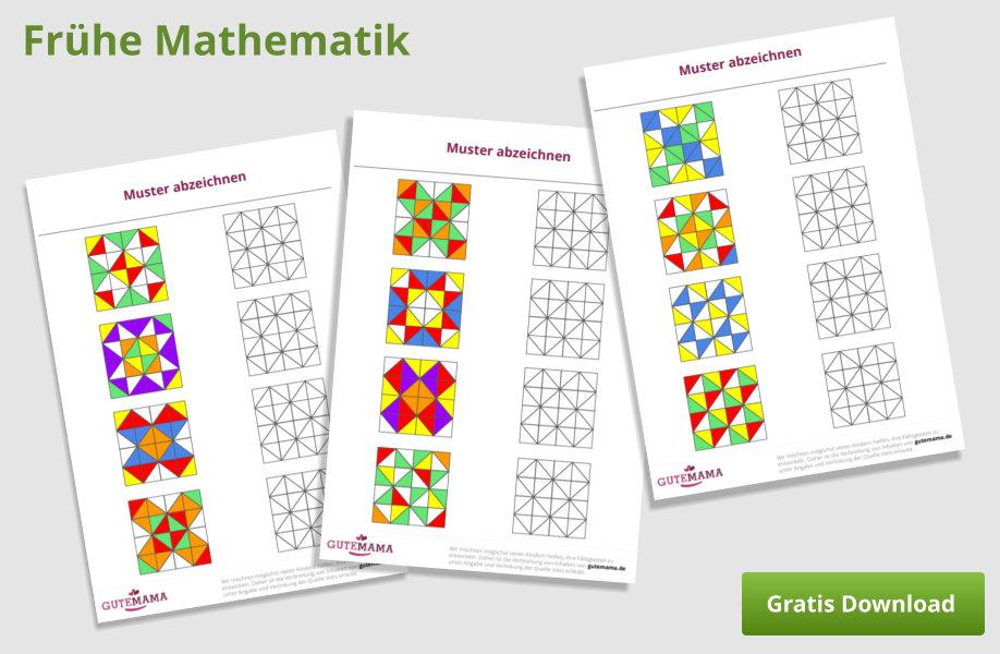Muster abzeichnen - mathematische Kompetenzen fördern