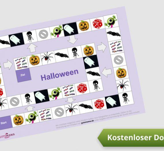 Spielplan zum Ausdrucken – Halloween – DAZ