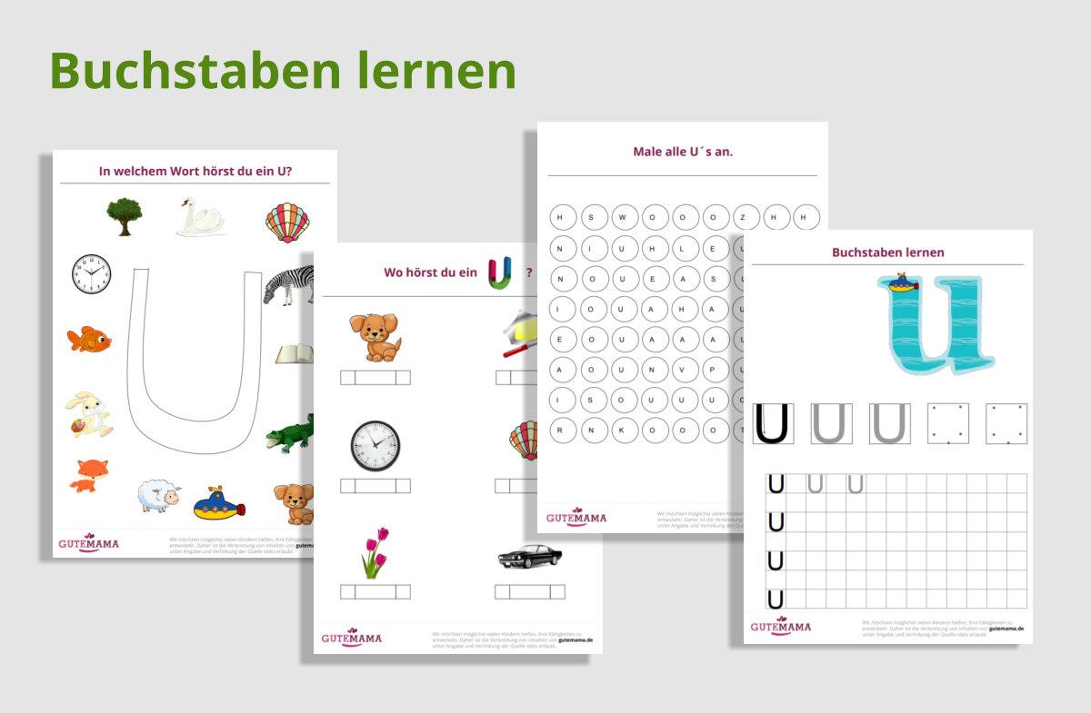 Buchstaben lernen - Buchstabe U