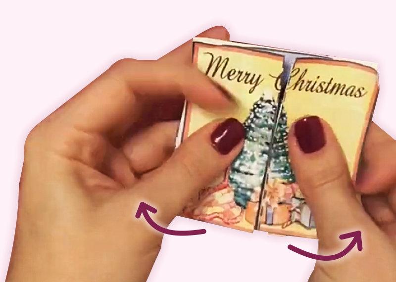 Alle Jahre wieder .... basteln Kinder Postkarten für Omas, Opas, Tanten usw.     Zu einem besondere