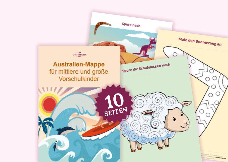 Die Afrika-Mappe besteht aus 10 Arbeitsblättern für gezielte Schulvorbereitung im Kindergarten. Dar