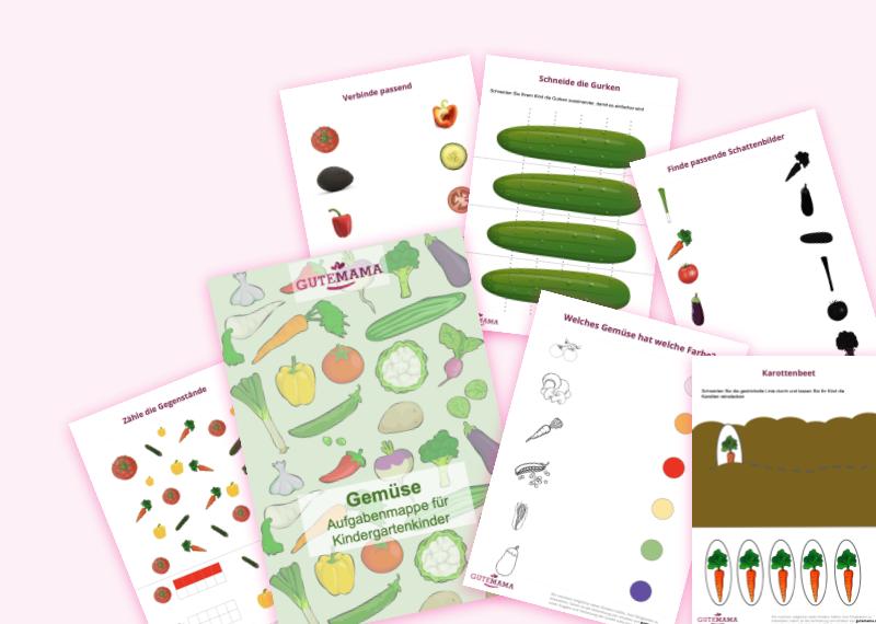 Gemüsemappe - 6 spannende Aufgaben