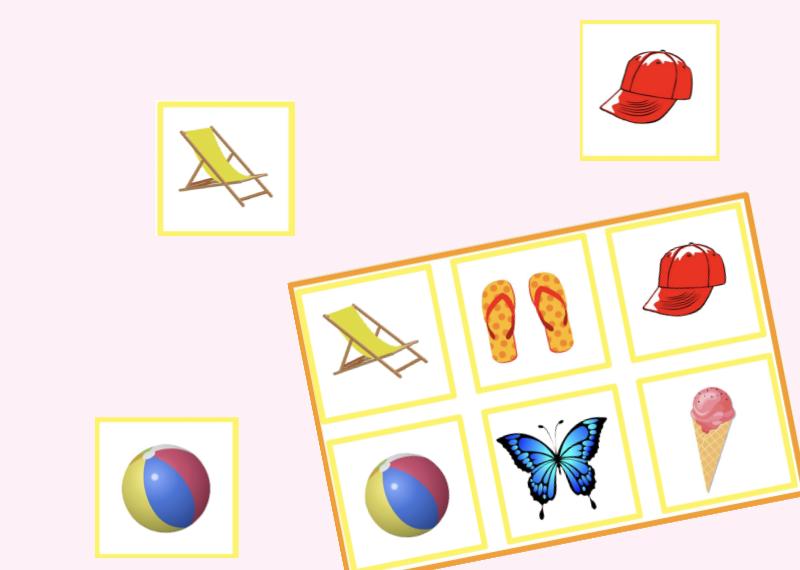 Ein einfaches Lotto mit Sommermotiven für unsere Kleinen.     Erweitert den WortschatzVerbessert di
