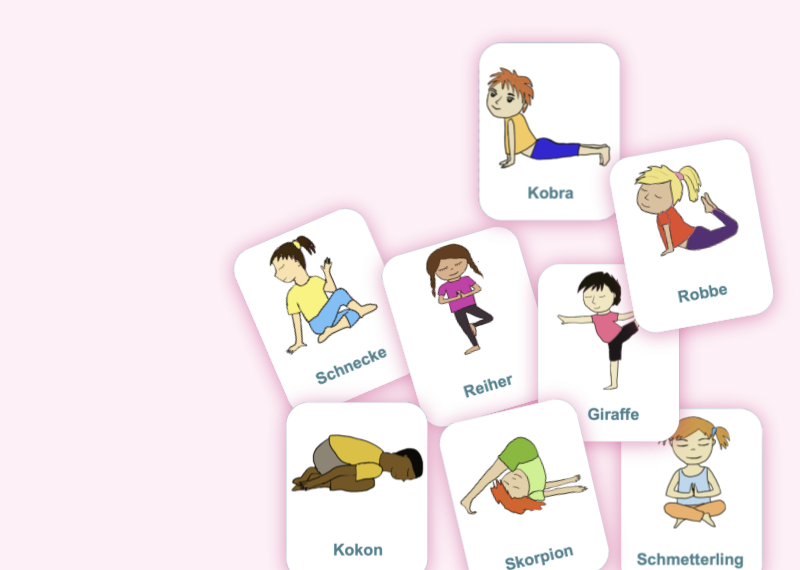 Yoga für Kinder - kostenlose Karten